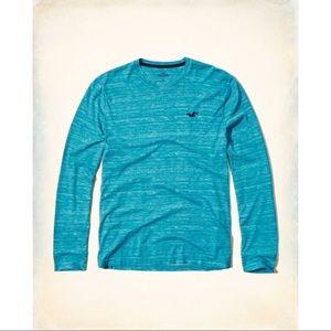 Hollister Co. Ionic Teal Long Sleeve T-Shirt